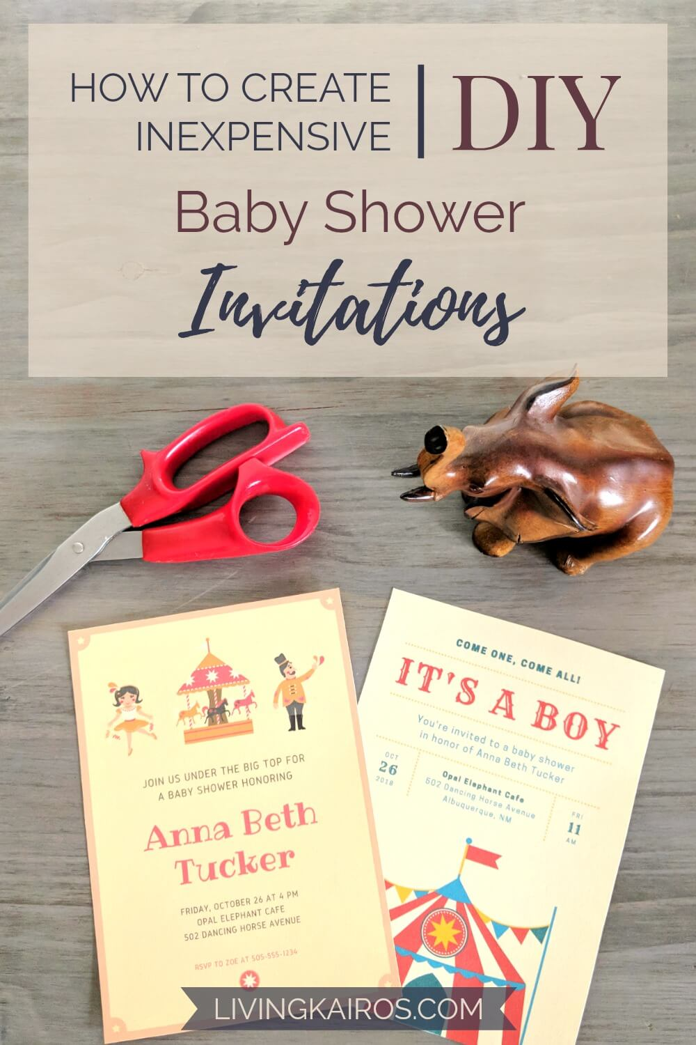 How To Create Inexpensive Diy Baby Shower Invitations Budget